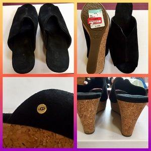 UGG 🆕❤️ Platform Wedges Slide Shoes.